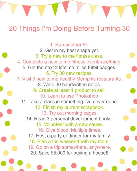 Things I by 20 Things I M Doing Before Turning 30 A Merry