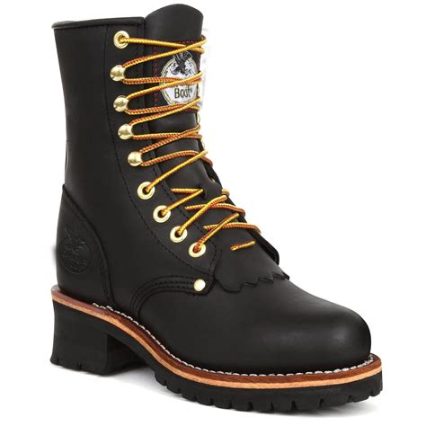black work boots s 174 work logger boots black 186348 work