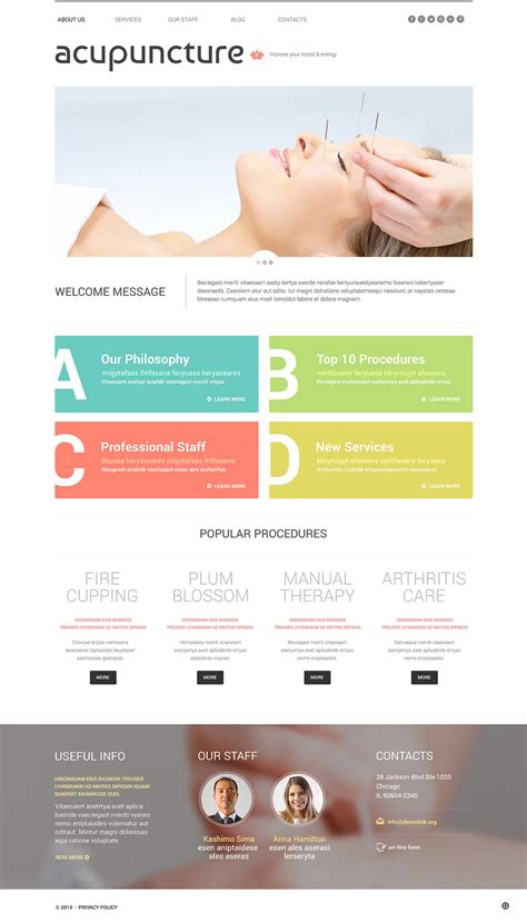 wordpress themes free massage massage salon responsive wordpress theme 49006