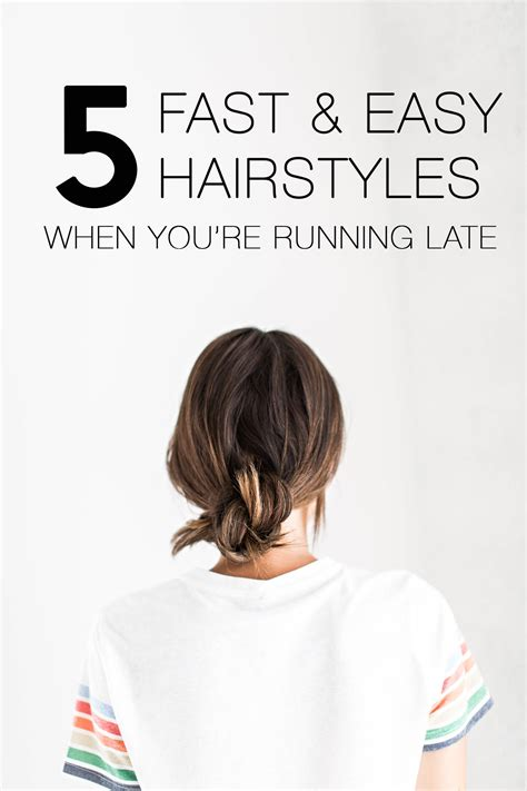 easy hairstyles running late 5 fast easy hairstyle for when you re running late