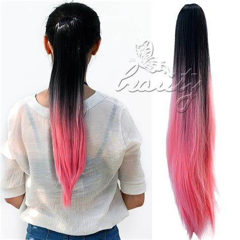 hair extensions ebay australia au stock claw on ombre colored synthetic hair