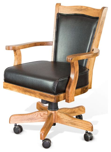 Zao Discusio Swc Office Chair 1 designs sedona chair with cushion rustic oak southwestern office chairs by