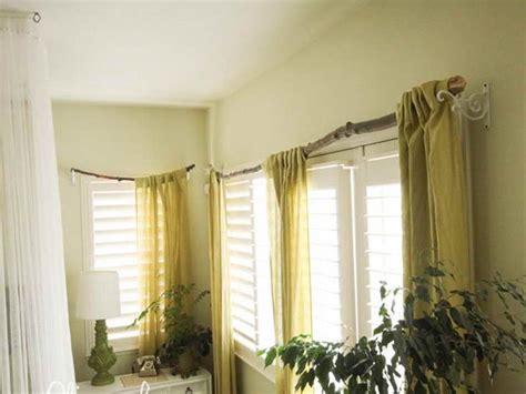 unique curtain rod ideas window treatment ideas diy unique branch curtain rod