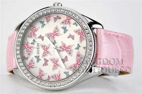 s watches r3 999 00 gt gt guess big pink butterfly