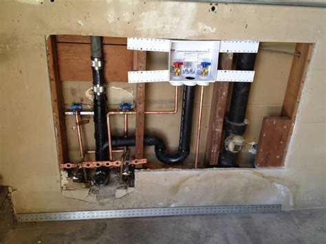 Garage Bathroom Plumbing This Is A Stucco Wall In My Garage Where David Into A