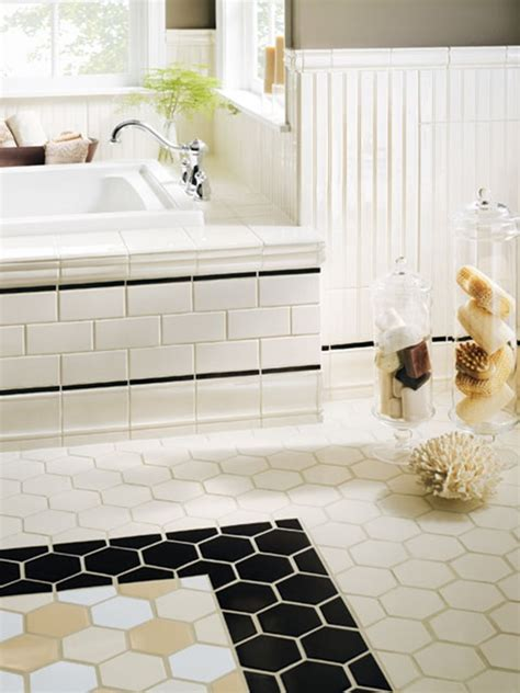 bathroom floor tile patterns ideas hexagon tiles