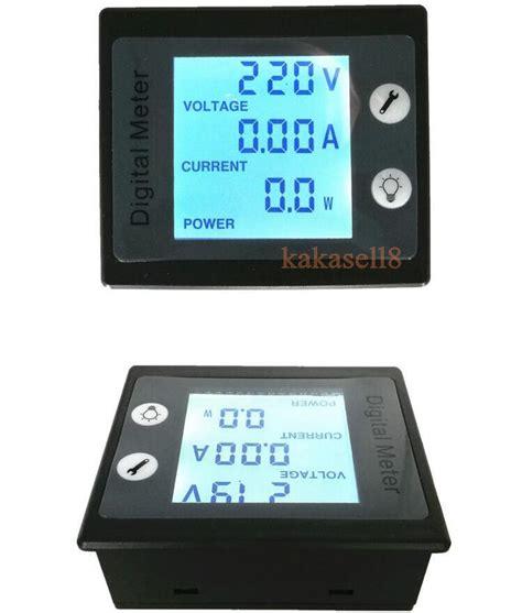 Watt Meter Ac 220 Volt 100a 4 Display Din Rel ac 80 to 260v lcd digital 100a volt watt power meter ammeter voltmeter 110v 220v ebay
