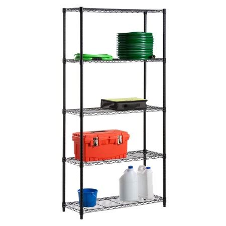 5 tier wire shelving unit 200lb per shelf black target