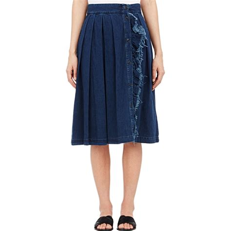 boy by band of outsiders denim pleated skirt blue size 1