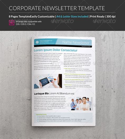 12 page eco newsletter template 187 tinkytyler org stock