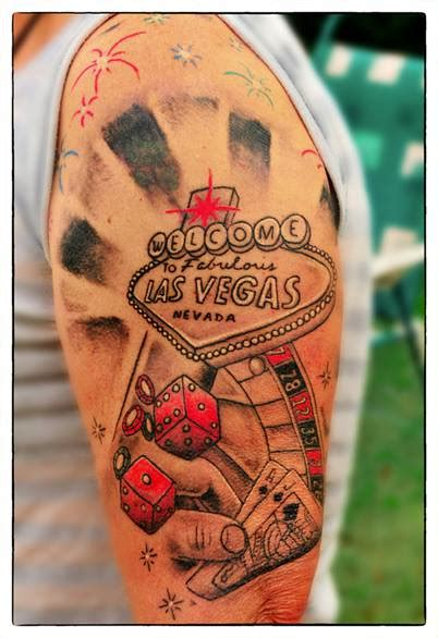 tattoo vegas las vegas gambling tattoo on left arm 187 tattoo ideas