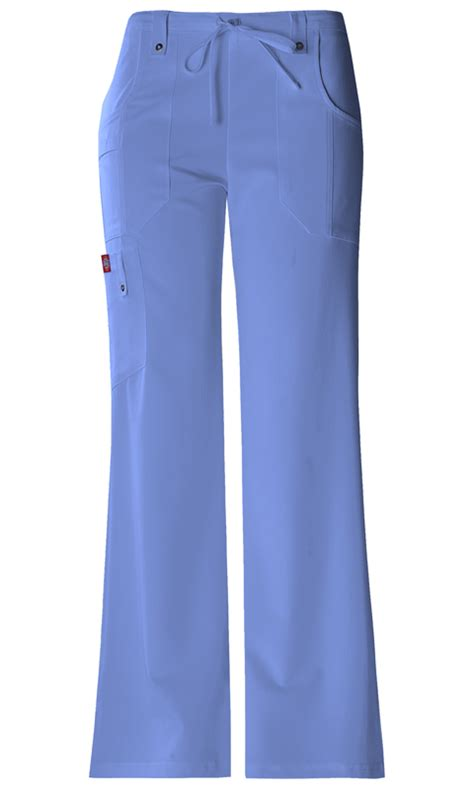 Color Ceil Blue by Mid Rise Drawstring Cargo Pant In Ceil Blue From