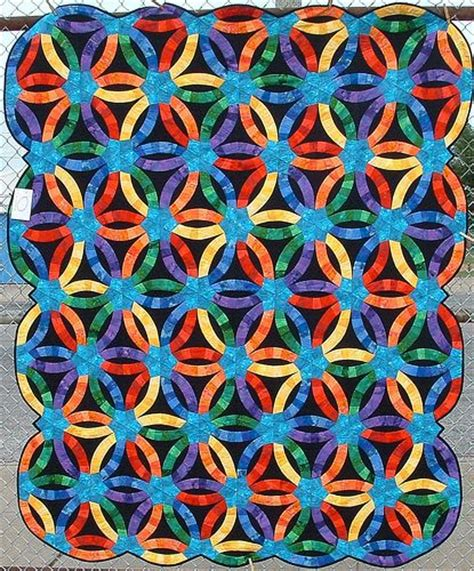 triangle pattern bumps triangle wedding ring quilt the pattern is from an old