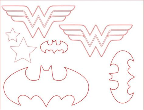 wonder woman batman logos templates wonder women