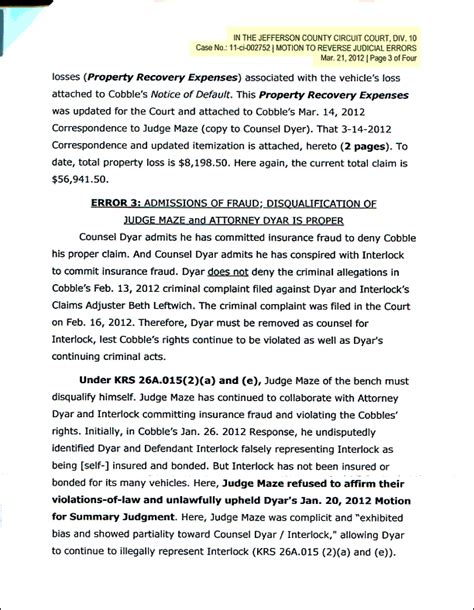 Contract Prolongation Letter System Of Contracts Threatened Letter To Obama Motion To Disqualify Judge Maze