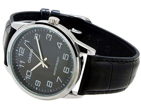 Casio Mtp Ltp V001l casio his hers black leather band