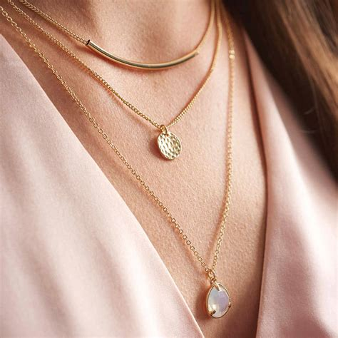 gold layered necklace by my posh shop notonthehighstreet