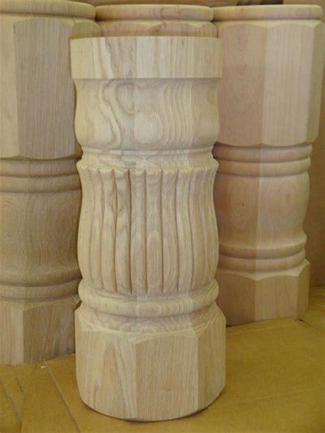 unfinished wood pedestal table base unfinished reeded pedestal table column