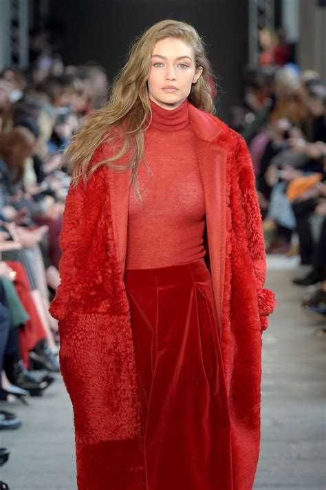Milan Fashion Week by Gigi Hadid At The Max Mara Show During The Milan Fashion
