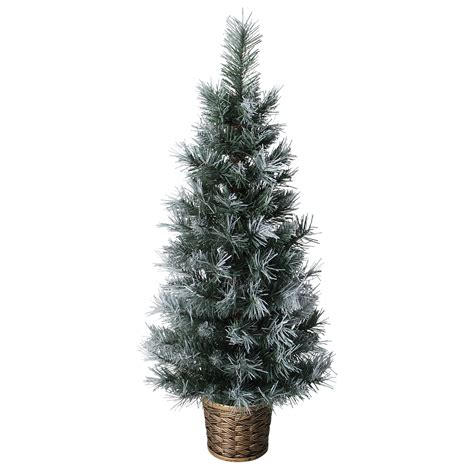 3ft hton spruce potted feel real artificial christmas tree 3ft 90cm artificial green frosted potted tree decoration