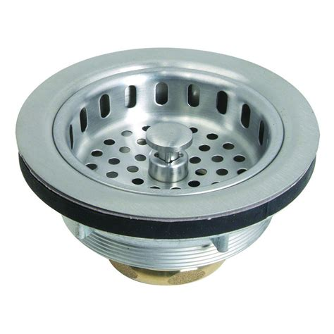 Strainer Stainless Steel 14cm 3 brasscraft 3 1 2 in post style basket strainer with nut and washer in stainless steel bc7150 ss