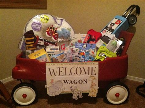 Baby Shower Welcome Wagon by Quot Welcome Wagon Quot Baby Shower Gift My Creation Great Ideas