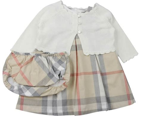 burberry baby beige pale check 4 dress set casual playsuit d baby licious