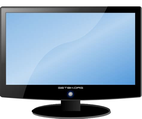 display tv lcd widescreen hdtv monitor clip art at clker com vector