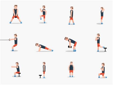 fitness gif demonstrates 48 exercises perfect for new year