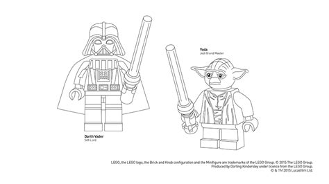 coloring pages lego darth vader lego star wars colouring sheet dk explore