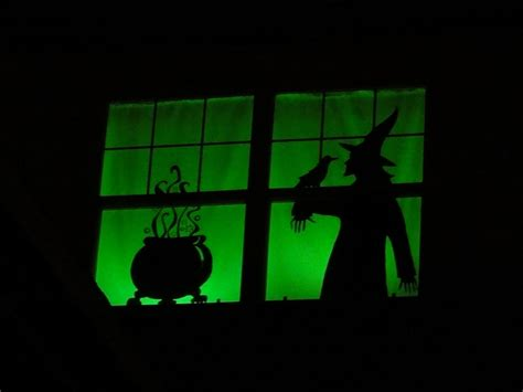 birshykat halloween window silhouettes