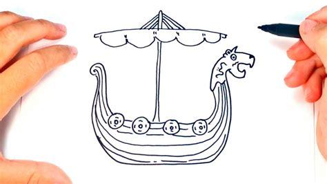 boat drawing easy how to draw a viking ship viking ship easy draw tutorial