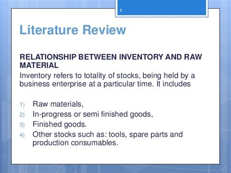 Review Of Literature On Inventory Management For Mba by Literature Review Inventory Management