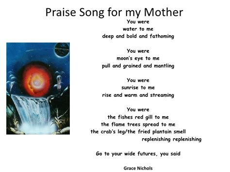 song for my praise song for my mother