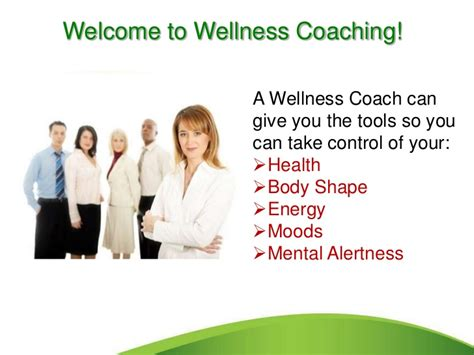 health couch wellness coach presentation