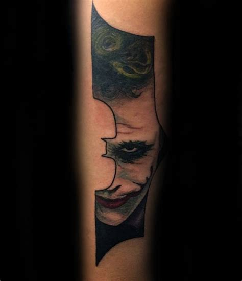joker tattoos for men joker batman symbol mens forearm tattoos batman