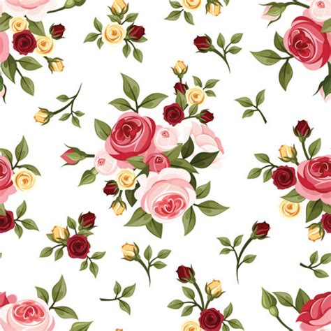 pattern flower english 10 free vector rose patterns freecreatives