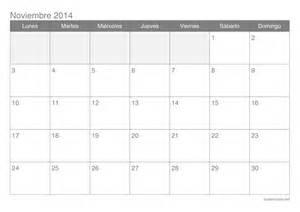 Calendario Noviembre 2014 Calendario Noviembre 2015 Para Imprimir Icalendario Net