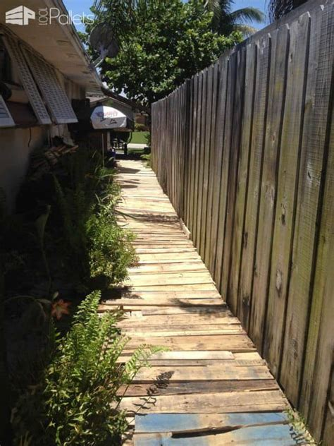 pallet garden walkway  pallets