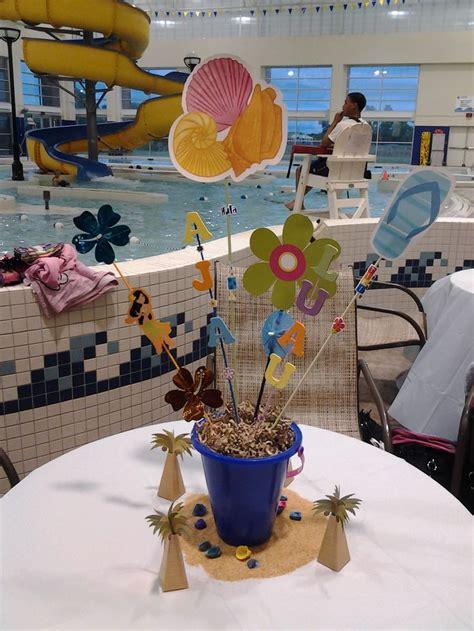 luau centerpiece party ideas pinterest
