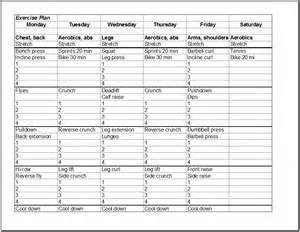Fitness Plan Template Weekly by Fitness Schedule Template 7 Free Templates Schedule
