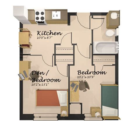 Uwaterloo Floor Plans by Economy Suite With No Living Room St Paul S University
