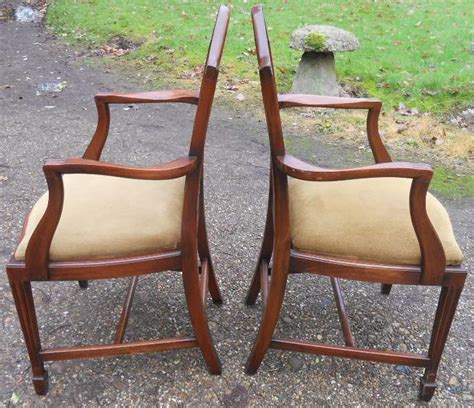 sold set   mahogany georgian style dining chairs