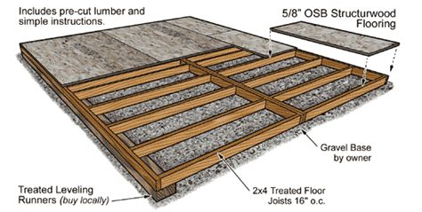 shed floor design shed plans kits