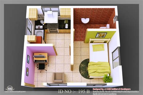 small house 3d isometric views of small house plans kerala home design and floor plans