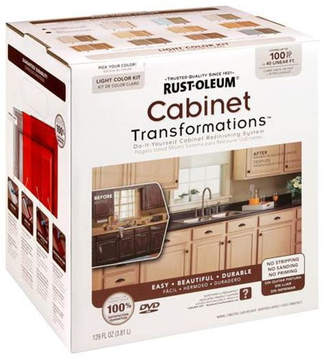 rustoleum kitchen cabinet transformation kit rust oleum 174 cabinet transformations light base refinishing kit
