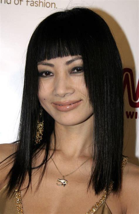 bai ling long sleek hairstyle   straight face