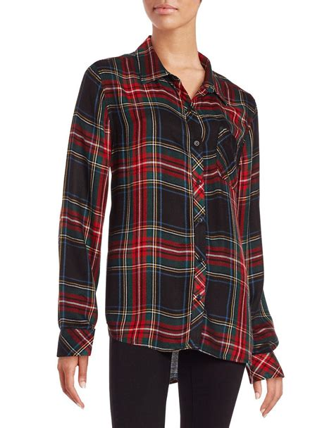 Beachlunchlounge Flannel by Lunch Lounge Plaid Flannel Shirt Lyst
