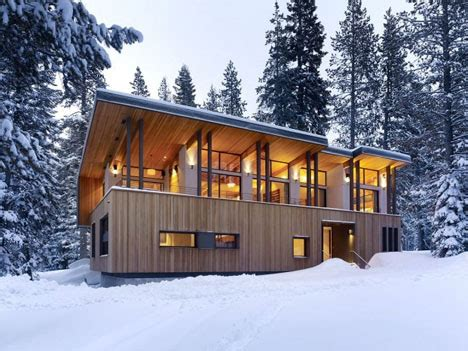 winter home roof sloped  snow   avalanche shed