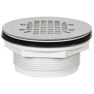 sioux chief 2 in pvc shower drain with strainer 828 2pk